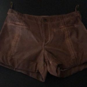 Free People real leather brown shorts  new!